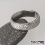2 kolečka 50, damasteel snubní prsten, struktura
