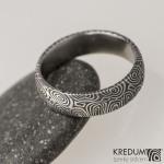 6 kolečka etra , damasteel snubní prsten, struktura